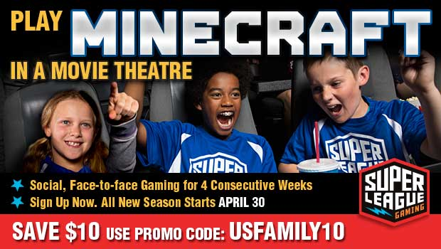 Minecraft Play Minecraft in a Movie Theater!  Exclusive $10 discount