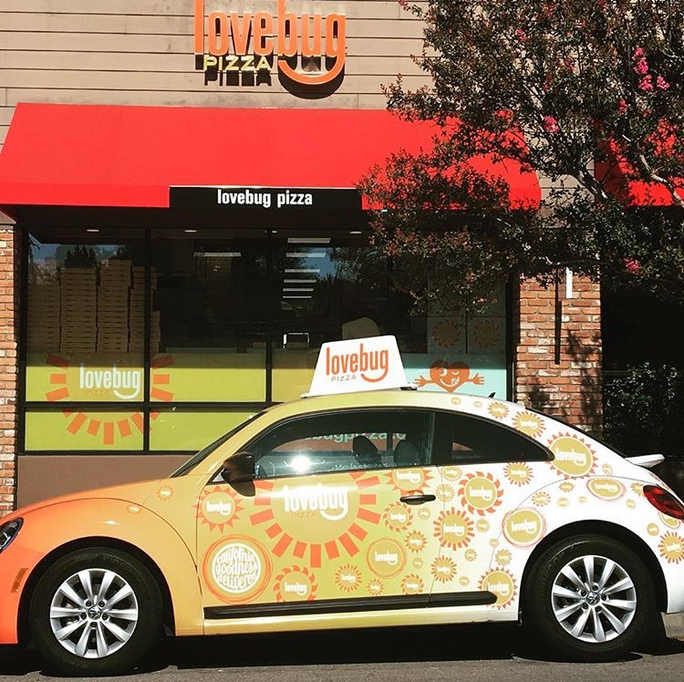 Love-Bug-Car Lovebug Is The Best Delivery Pizza Near Me - Woodland Hills Pizza